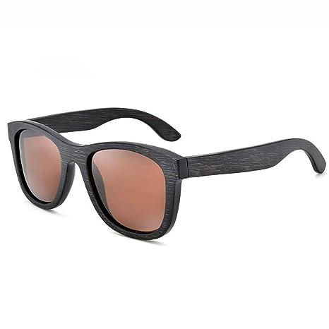 GSSTYJ Gafas de Sol polarizadas, Lentes de bambú, Unisex ...