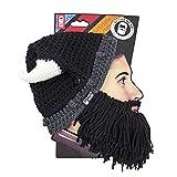 Beard Head - The Original Barbarian Looter Knit Beard Hat (Black)