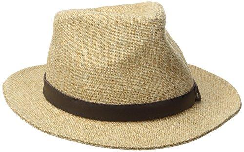 Goorin Bros. Women's Kendo Jute Fedora Hat, Natural, Large