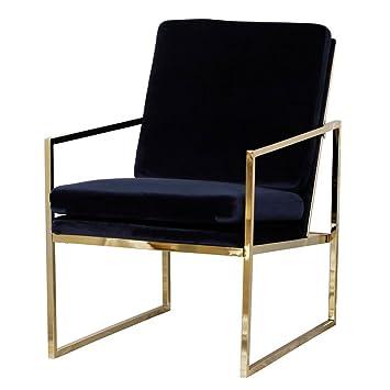 Mr.do® Samt Sessel Stuhl Blau Dunkelblau Lounge Sessel, Kupfer blick ...