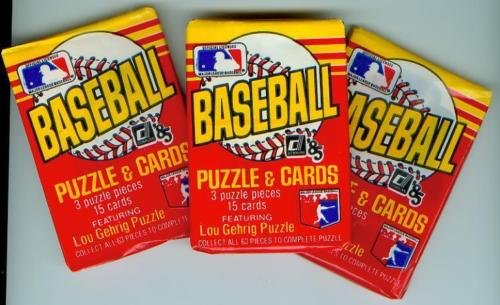 Lot of 3 1985 Donruss Baseball Wax Packs (45 Cards Total) Possible Roger Clemens Rookie Card