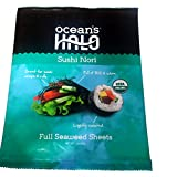 Ocean's Halo Sushi Nori Full Seaweed Sheets! Lightly Roasted! Great For Sushi Wraps Or Rolls! Only 5 Calories Per Serving! Delicious!