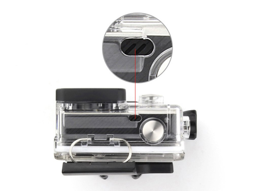 WiserElectron Protective Housing Case Open Side with Lens and Skeleton Backdoor for Gopro Hero 4 3+ Camera by WiserElecton