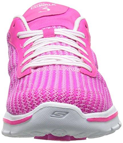 nbsp;FitKnit 3 Damen Skechers Sneakers Walk GO Hpk Pink qT4twA