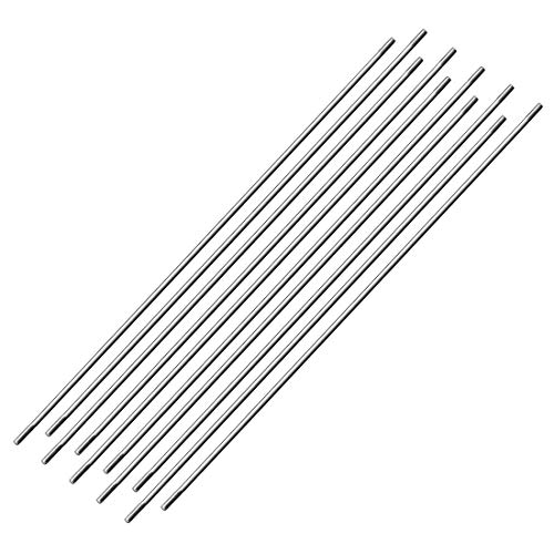 (uxcell M3x250mm Pushrod Connector Stainless Steel Rod Linkage,for RC Boat,Car,Airplane,Helicopter,10pcs)
