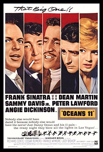Oceans 11 Fridge Magnet 2.5 x 3.5 Frank Sinatra Movie Poster Magnetic Canvas Print
