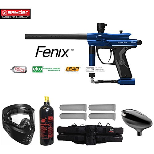 MAddog Spyder Fenix Starter CO2 Paintball Gun Package - Blue ()