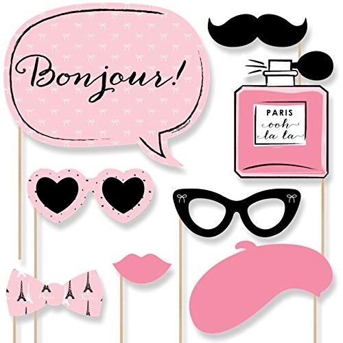 Paris Ooh La La Photo Booth Props Kit 20 Count Amazonin Toys