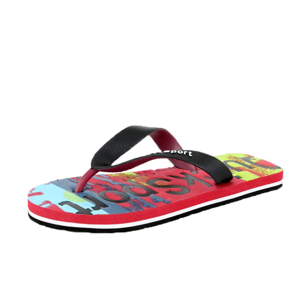 2bb26c5c1 Amazon.com: Ennglun Mens Thong Sandal, Men Letters Beach Shoes Flip Flops  Flat Slides Flip Flops Slippers Home Sandals Sandals: Clothing