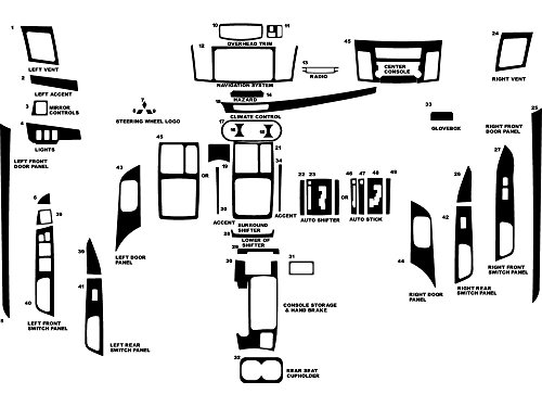 Rvinyl Rdash Dash Kit Decal Trim for Mitsubishi Lancer/Evolution 2008-2013 - Carbon Fiber 3D (Black)