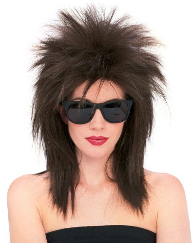 Spiky Wig (Rubie's Costume Superstar Spiky Wig, Brown, One Size)