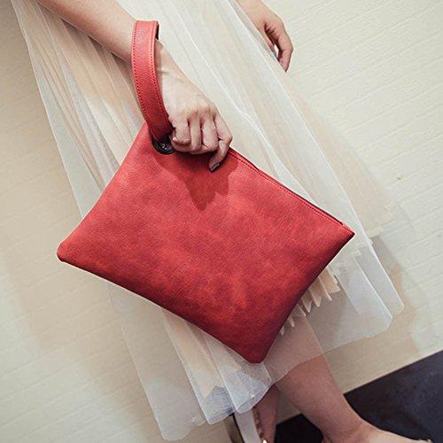 Pochette main soirée de Sac juqilu femme à pour élégant Pochette enveloppe rouge femme clutch de Rétro pour wqB81q