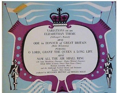 Aldeburgh Festival, 1953: Arda Mandikian (soprano), Gladys Whitred (soprano), Aldeburgh Festival Choir and Orchestra - Imogen Holst, dir.; Alfred Deller Peter pears And Norman Lumsden. (Art Olive Festival)