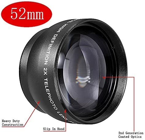 Neewer® 52 mm Telephoto Lente con Bolsa para cámaras SLR Digitales ...