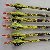 Easton ST Axis N Fused 340 Carbon Arrows w/Blazer Vanes Mossy Oak Wraps 1 Dz.