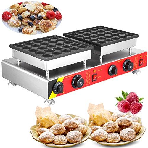 VEVOR Electric 50pcs Poffertje Mini Dutch Pancake Baker Maker 45mm/1.8inch Commercial Nonstick 1600W