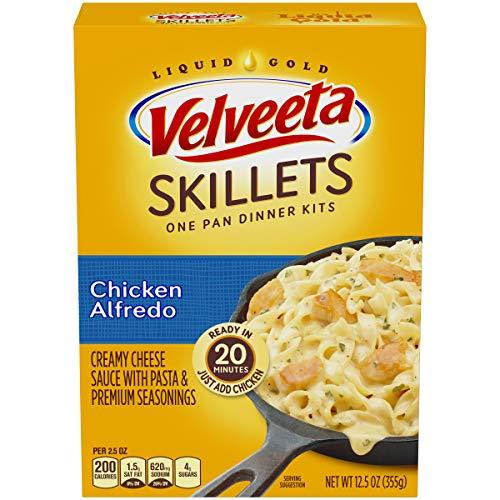 Alfredo Pasta Dinner - Kraft Velveeta Cheesy Skillets Dinner Kit, Chicken Alfredo, 12.5 oz