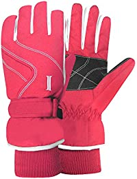 Women's Taslon Ski Gloves with Stripes