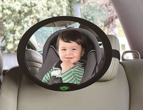 Baby Car Mirror 100% Shatterproof, Ready Assembled, Fully Adjustable, Incredibly Easy to Fit, Anti-Judder Fixing Straps, Quick Install, Premium Quality (Black) BabyMad® BM-OVMIR