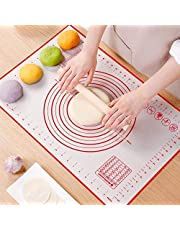 """Nasjac Non-Slip Silicone Pastry Mat, Extra Large 19.7"""" x 27.5"""" Non-Stick Baking Mats with Measures, BPA-Free Heat-Resistant 100% Food Grade Reusable Dough Mats, For Oven Liner, Fondant / Pie Crust Mat / Pasta / Pizza / Bread / Cake / Biscuits"""