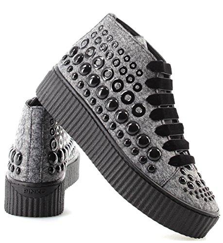 Mujer Grey Sneakers Zapatos Espã¡rragos Baby Pinko Shine Bolsena Nuevo I42 gR1pqAxR