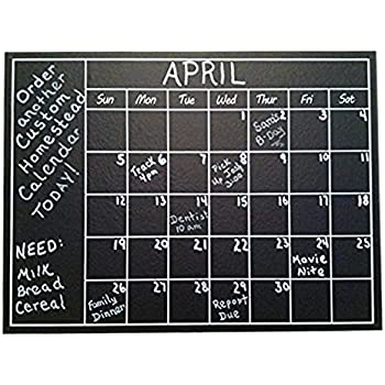 Chalkboard Calendar Wall Sticker   Blackboard Organizer Decal