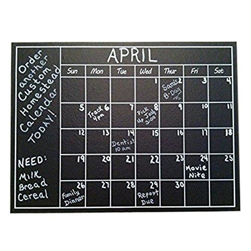 Chalkboard Calendar Organizer : Chalkboard calendar wall sticker blackboard organizer
