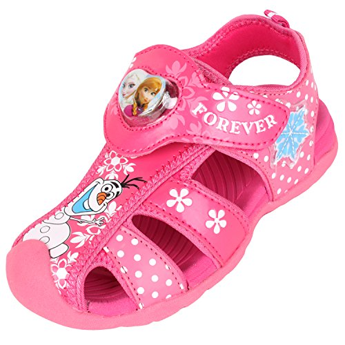 Disney Frozen Elsa Anna Forever Hot Pink Light-up Fisherman Sandals (Parallel Import/Generic Product)