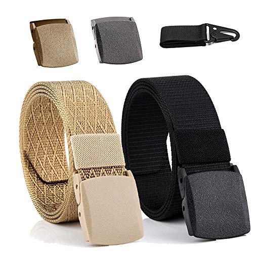 [해외]남성용 밀리터리 전술 나일론 벨트 Keethem 남성용 벨트 2피스 플라스틱 버클과 전술 기어 클립 1개 / Military Tactical Nylon Belt for Men, Keethem Mens Belt2pcs Plastic Buckles and 1pcs Tactical Gear Clip