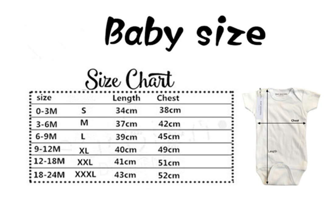 Baby Kurzarm Strampler Jungen M/ädchen Body Mit Spruch Druck Unisex Overall Jumpsuit Mit Knopf Nowborn Playsuit Kurzarm Stramplers Weich Sicher 0-3M Fliegend