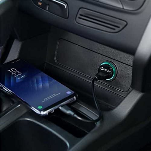 and More AUKEY USB Car Charger 18w Quick Charge 3.0 Flush Fit Cell Phone Adapter for iPhone 11 Pro Max//XS Samsung Galaxy Note 9 // S9 // Note 10 // S10