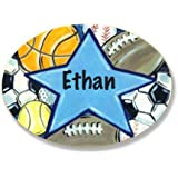 The Kids Room by Stupell Ethan, All Star Sports Personalized Oval Wall Plaque