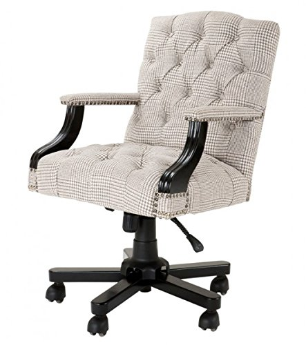 Casa Padrino Luxury Executive Office Chair Cream/brown Swivel Chair Desk  Chair   Executive