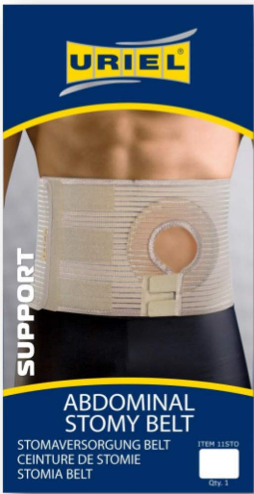 Uriel Abdominal Ostomy Belt for Post-Operative Care After Colostomy Ileostomy Surgery (S)