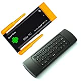 Easytone J22 RK3188T Android 4.4 Streaming Media Player KODI Fully Loaded TV Box Quad Core [2GB/8GB/1080P] Smart Mini PC, 2 Wifi Antenna Smart TV Stick Dongle with MX3 Wireless Keyboard Mouse