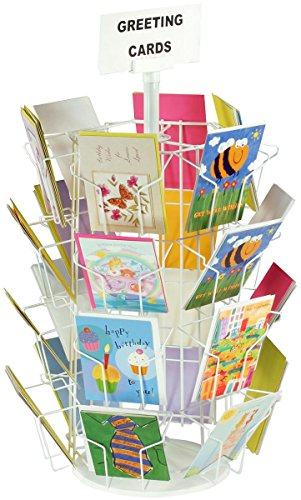 Greeting Card Rack with (24) 5 x 7 Pockets for Countertop Use, 29
