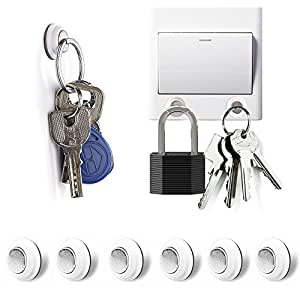 Magnetic Key Holder, Tescat 6 Packs Key Racks Organizer - Wall Mounted Decoration Without Drilling