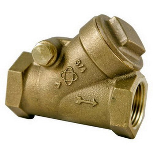 NIBCO T-413-Y-LF Silicon Bronze Lead-Free Check Valve, Horizontal Swing, Class 125, PTFE Seat, 1