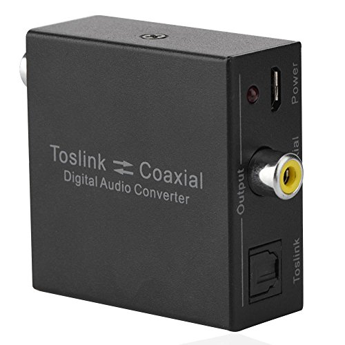 Fiber Coaxial Intercom 2-way Digital Toslink Audio Converter SPDIF Audio Input Splitter Adapter by Yosoo-