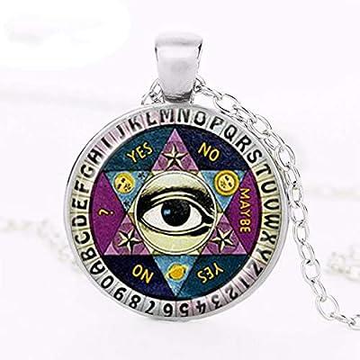 Ouija - Collar con colgante de pizarra con diseño de ojo ...