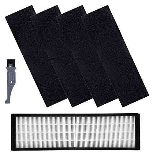 - I clean Filter B For GermGuardian FLT4825, 1pc HEPA Filter and 4 Pack of Carbon Activated Pre-Filters for GermGuardian Air Purifiers AC4825 AC4300 AC4800 4900 Series(With a Free Cleaning Brush)