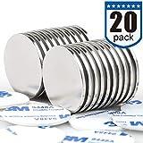 Powerful Disc Neodymium Magnets (20 Pack) - 1.26 inch x 0.08 inch