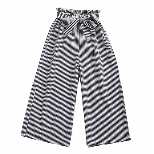 Sanlutoz Fashion Stripe Girl Pants Children Cotton Pant Casual Clothes Bundle Soft (3-4 years/110cm, KPW7150) by Sanlutoz