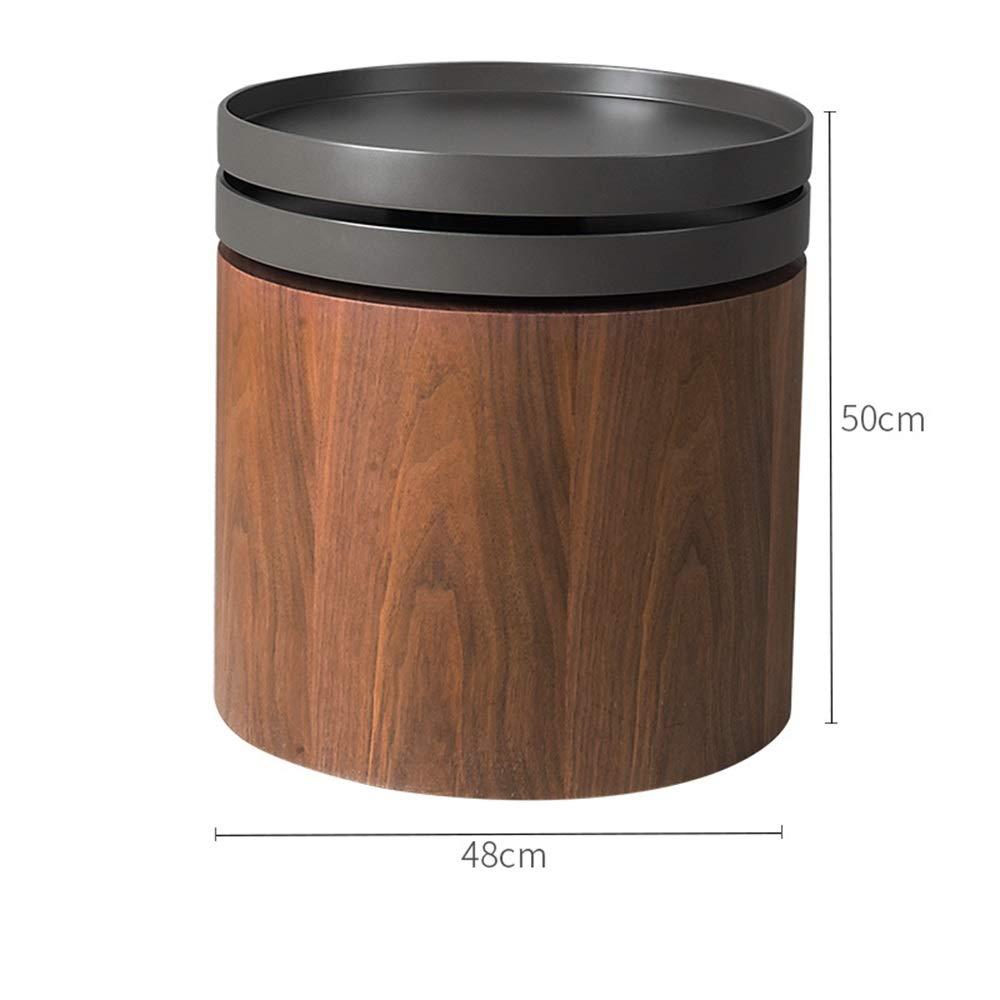 HUO,テーブル 現代的なラウンドコーヒーテーブル木製のサイドテーブルリビングルームクリエイティブ回転可能なトレイ小さなラウンドテーブル 多機能 (色 : B)  B B07JHBZJLJ