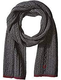 Men's Tipped Cable Scarf
