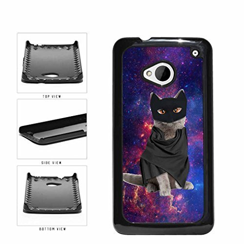 Trippy Galaxy Silly Superhero Cat Plastic Phone Case Back Cover HTC One M7