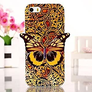 Fashionable Butterfly Pattern TPU Soft Cover for iPhone 5/5S Back Case