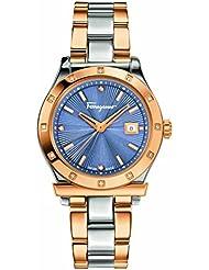 Salvatore Ferragamo Womens FF3260015 FERRAGAMO 1898 Analog Display Quartz Two Tone Watch