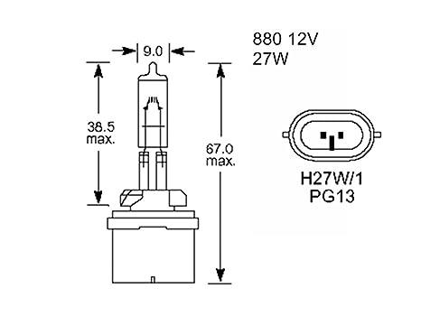 1x M Tech Headlight Headlamp Car Bulb Pg13 880 27w 12v H27 E Marked