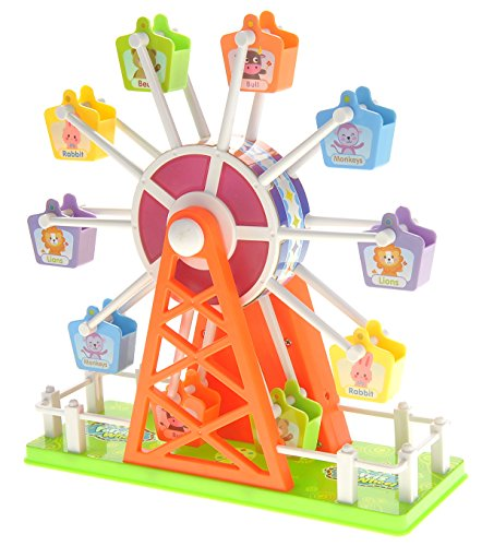 COTTONTAIL Colorful Sound Activated Rotating Ferris Wheel Fairground Toy with Music and ()